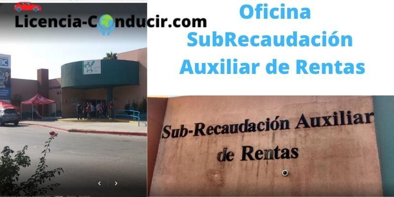 OFICINA SUBRecaudación AUXILIAR DE RENTAS TIJUANA