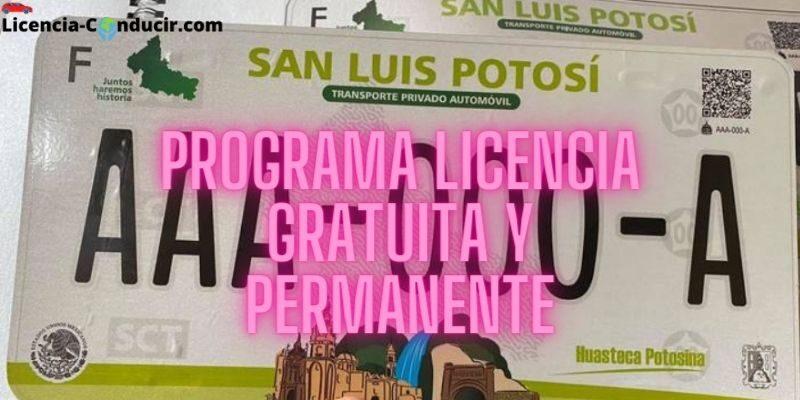 Programa Licencia Gratuita y Permanente slp