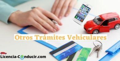 TRAMITES VEHICULARES
