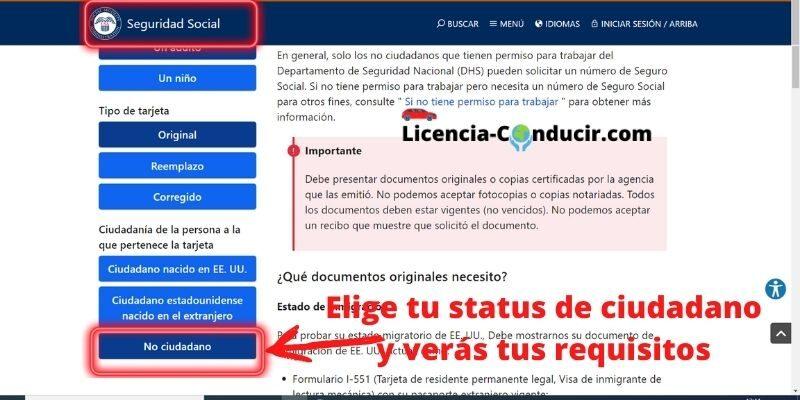 numero seguro social florida licencia de conducir