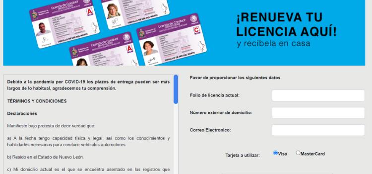 renovar licencia conducir nuevo leon
